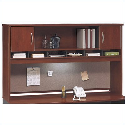 Bush Hansen Cherry Series C 71&quot; Two Door Wood Hutch in Hansen Cherry
