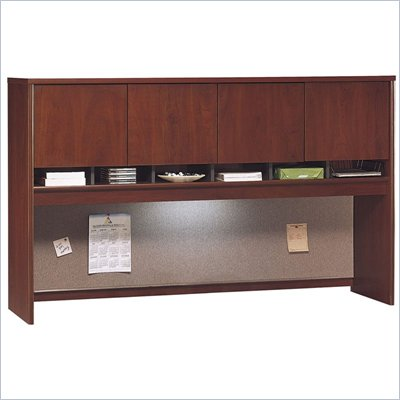 Bush Series C 71&quot; Four Door Wood Hutch in Hansen Cherry