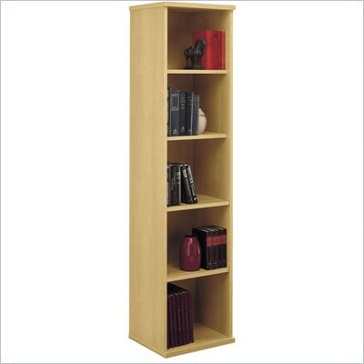 Bush Light Oak Series C Open Single Bookcase