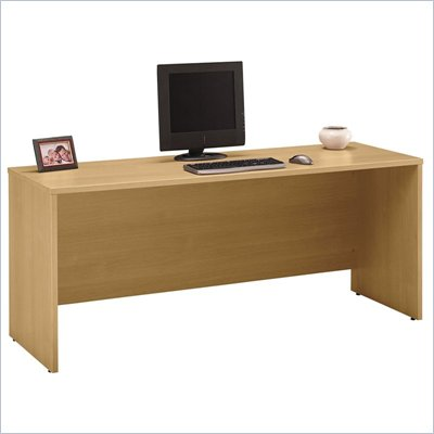 "Bush Series C 72 "" Wood Credenza in Light Oak"