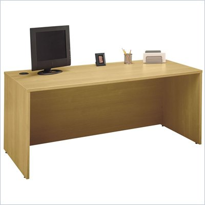 Bush Series C 72&quot; Wood Desk in Light Oak