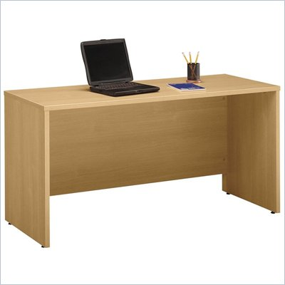 "Bush 60"" Series C Wood Credenza Desk in Light Oak"