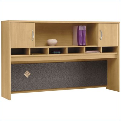 Bush Light Oak Series C - 71 inch Two Door Hutch