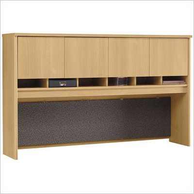 Bush Light Oak Series C 71 inch Four Door Hutch