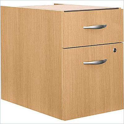 Bush Series C 2 Drawer Lateral Wood File Pedestal in Light Oak