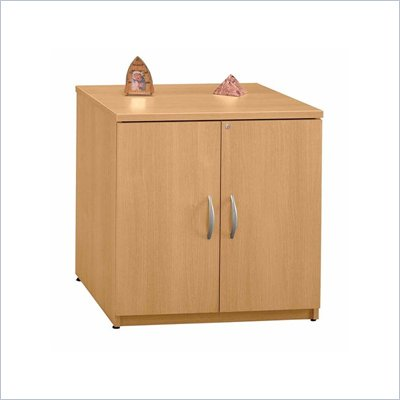 Bush Series C Wood Storage Cabinet in Light Oak