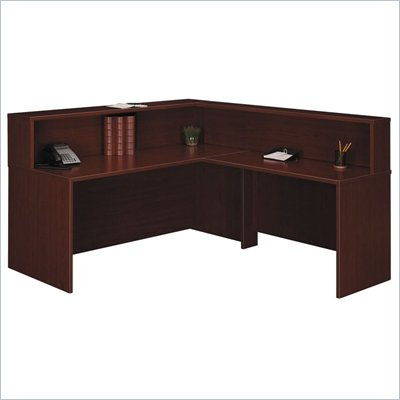 Bush Mahogany Corsa Series Reception Desk