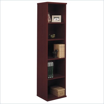 Bush Mahogany Series C Open Single Bookcase