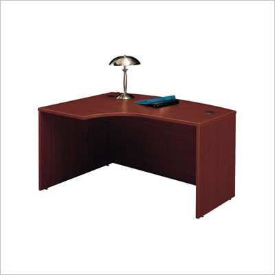 Bush Series C Left Bow Front Desk in Mahogany