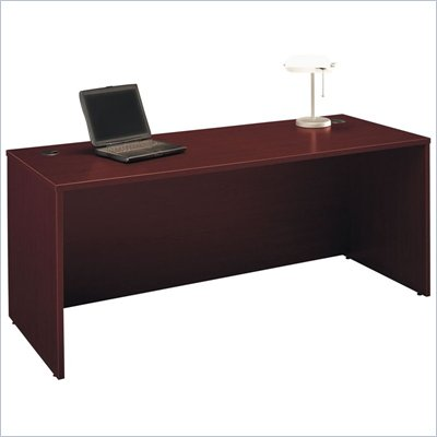 Bush 72&quot; Series C Wood Desk in Mahogany