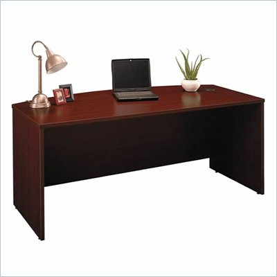 Bush Series C 71&quot; Bow Front Desk in Mahogany