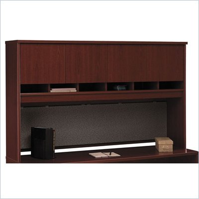 Bush Mahogany Series C 71 inch Four Door Hutch