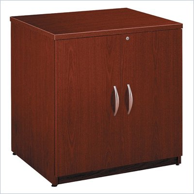 Bush Series C Wood Storage Cabinet in Mahogany