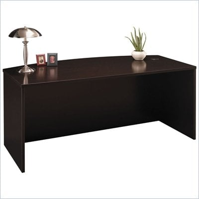 Bush C Series 71&quot; Bow Front Executive Desk in Mocha Cherry