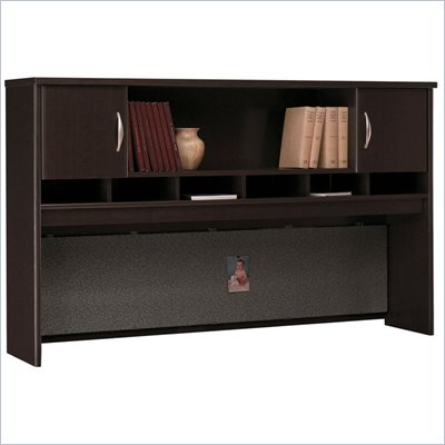 "Bush Series C 71"" 2 Door Wood Hutch in Mocha Cherry"