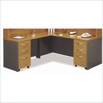 Bush Natural Cherry Corsa Series L-Shaped Desk