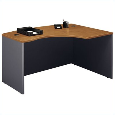 Bush Series C Right Bow Front Desk in Natural Cherry