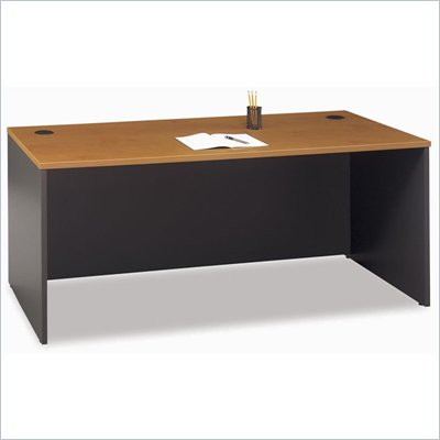"Bush Series C 72"" Desk in Natural Cherry"