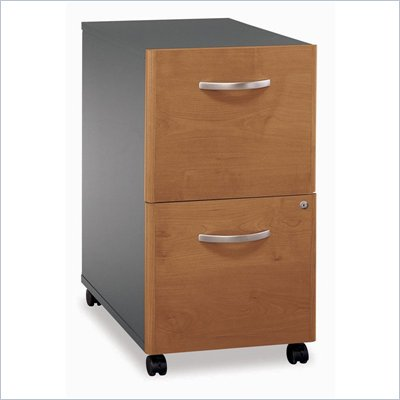 Bush Series C 2 Drawer Vertical Mobile Wood File Cabinet in Natural Cherry