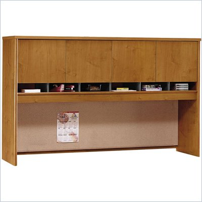 Bush Series C 71&quot; Four Door Wood Hutch in Natural Cherry