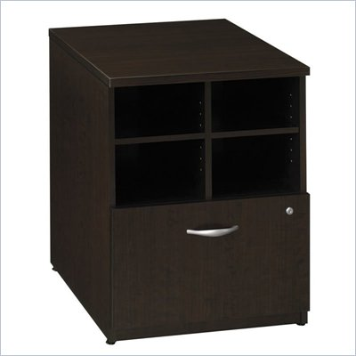 Bush Series C Storage Cabinet in Mocha Cherry