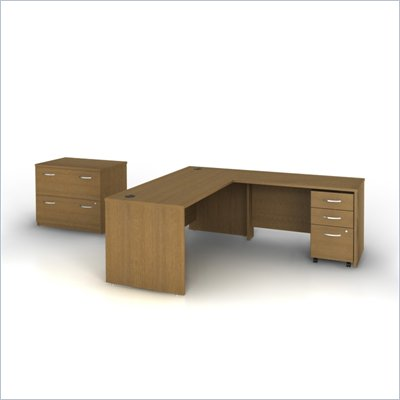 Bush Series C 006 Office Set in Warm Oak
