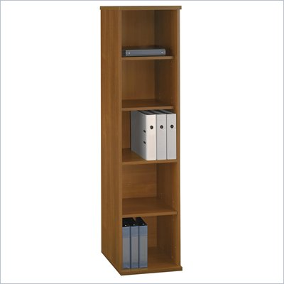 Bush Series C Open Single Bookcase in Warm Oak