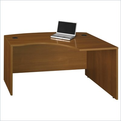 Bush Series C 60&quot;W x 43&quot;D RH L-Bow Desk Shell in Warm Oak