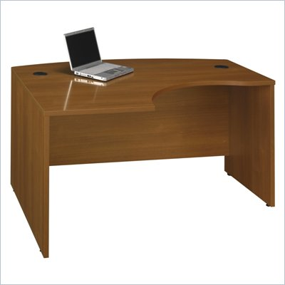 "Bush Series C 60""W x 43""D LH L-Bow Desk Shell in Warm Oak"