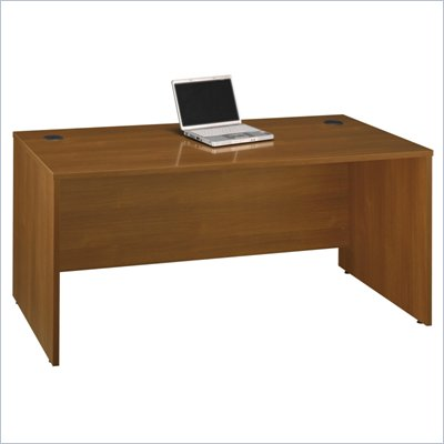 "Bush Series C 66""W Desk Shell in Warm Oak"