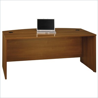 Bush Series C 72&quot;W Bow Front Desk Shell in Warm Oak
