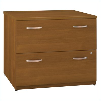 Bush Series C 36&quot;W 2-Drawer Lateral File in Warm Oak (Assembled) 