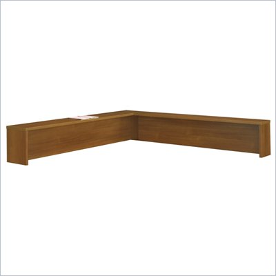 Bush Series C Reception L-Shelf in Warm Oak