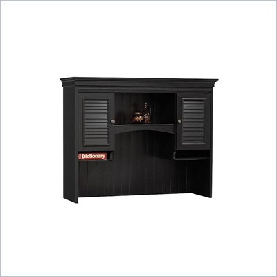 Bush Stanford Collection Hutch in Antique Black with Hansen Cherry Finish