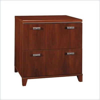 Bush Tuxedo 2 Drawer Lateral Wood File Storage Cabinet in Hansen Cherry