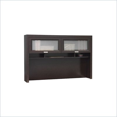 Bush Tuxedo Mocha Cherry Hutch for L-Desk