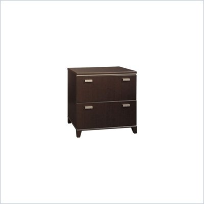 Bush Tuxedo 2 Drawer Lateral Wood File Storage Cabinet in Dark Mocha Cherry