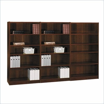 Bush Universal 5 Shelf Wall Bookcase in Vogue Cherry