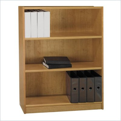 "Bush Universal 48""H 3 Shelf Wood Bookcase in Snow Maple"