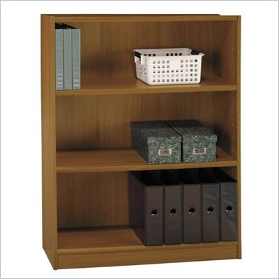 "Bush Universal 48""H 3 Shelf Wood Bookcase in Royal Oak"