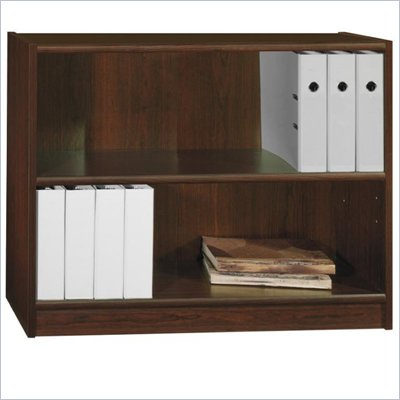 "Bush Universal 30""H 2 Shelf Wood Bookcase in Vogue Cherry"