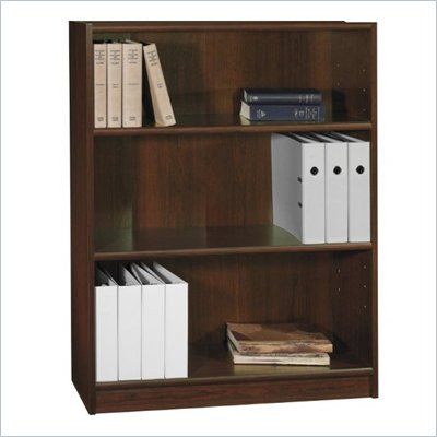 Bush Universal 48&quot;H 3 Shelf Wood Bookcase in Vogue Cherry