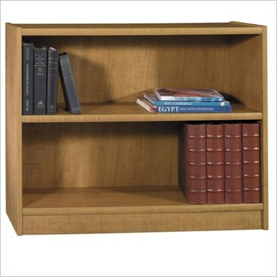 Bush Universal 30&quot;H 2 Shelf Wood Bookcase in Snow Maple