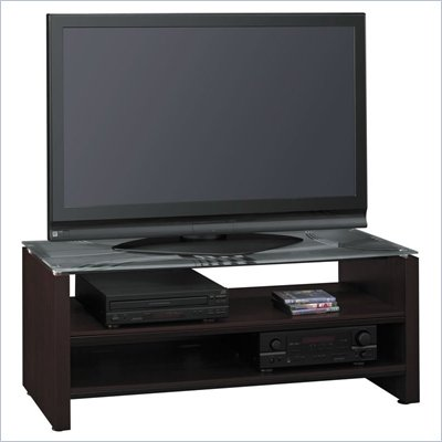 Bush Sonata 52 Inch Glass Top TV Stand in Espresso