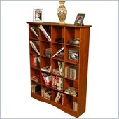 Venture Horizon Bookcase Media Cubbies Available in Multiple Finishes