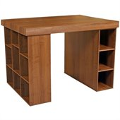 Venture Horizon Project Center with Bookcase & Shelving Cabinet