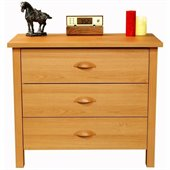 Venture Horizon Nouvelle 3 Drawer Chest in Oak Finish