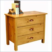 Venture Horizon Nouvelle 3 Drawer Chest in Pine Finish