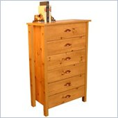 Venture Horizon Nouvelle 6 Drawer Chest in Pine Finish