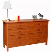 Venture Horizon Nouvelle 8 Drawer Lowboy Double Dresser in Cherry Finish